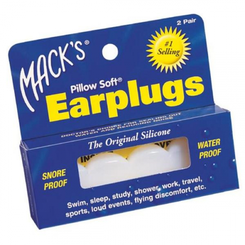 Mack's® Pillow Soft® Silicone Earplugs (2 Pair)