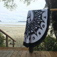 Live To Surf Round Towel by Tofino Towel Co.