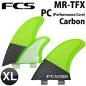 FCS M.R -TFX PC Carbon/Fluro Tri Set Thruster Fins